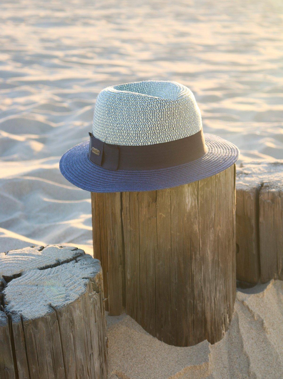 Frye Two Toned Straw Hat