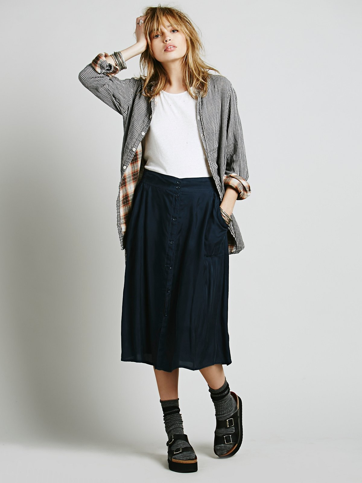 Marina Buttondown Skirt
