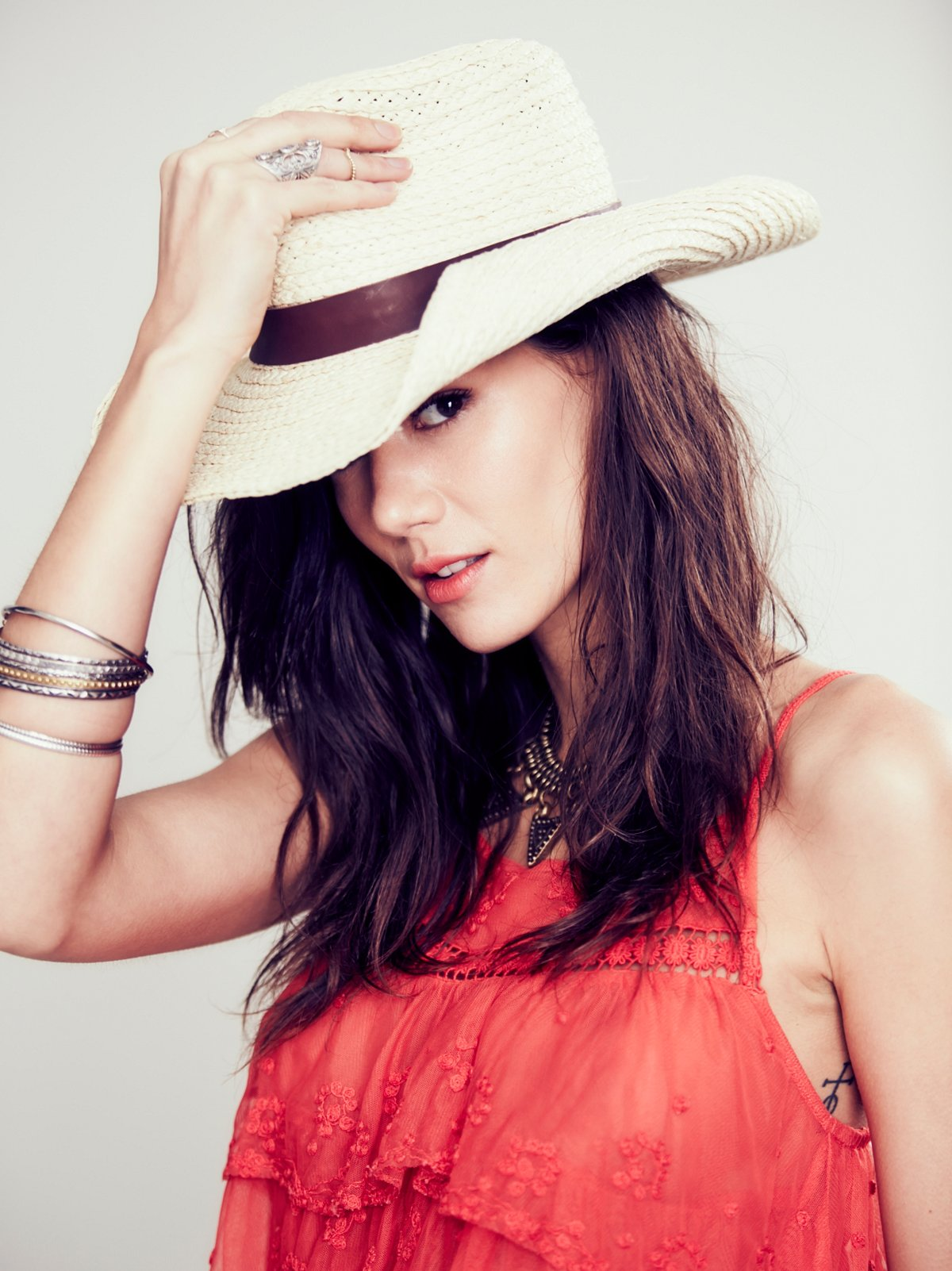 Mesa Leather Banded Straw Hat