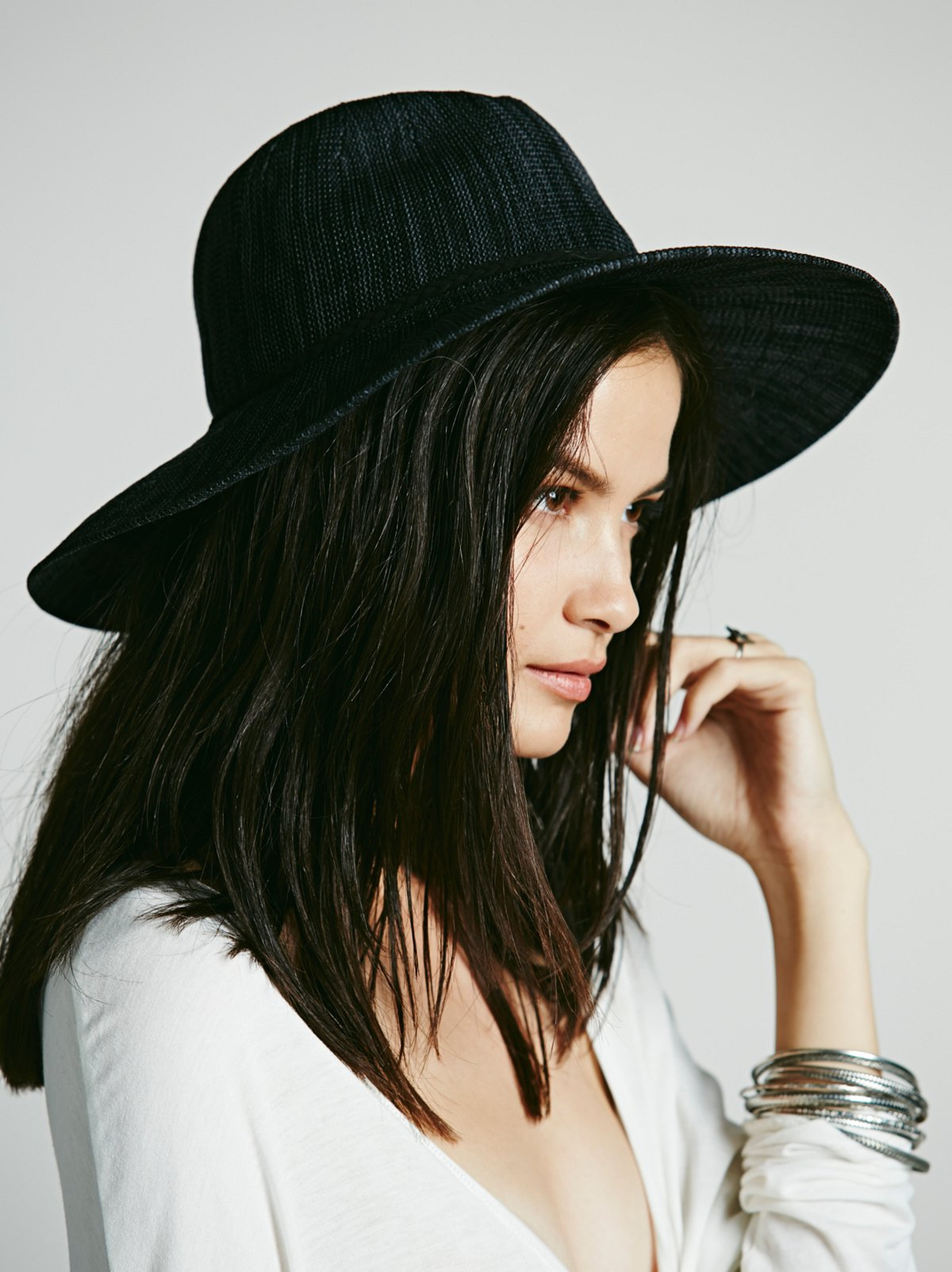 Marled Canvas Panama Hat