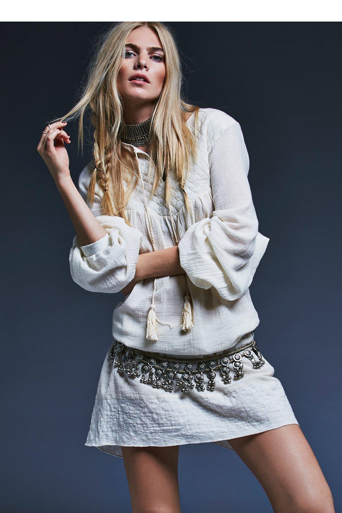 Agathe绗缝短裙