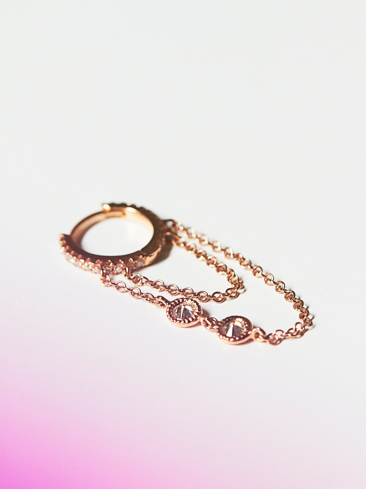 Rose Gold Eternity Diamond Earring