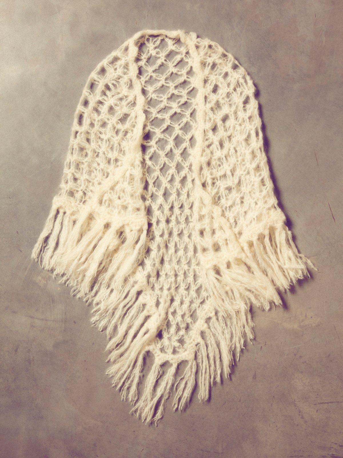 Vintage 60s Granny Knit Shawl
