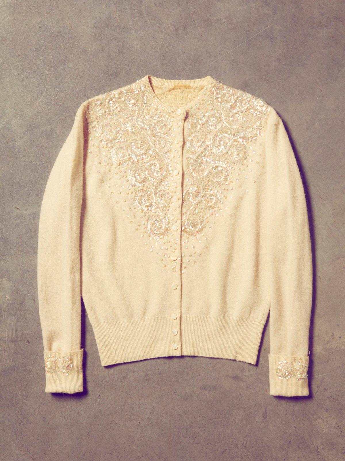 Vintage 1950s Sequin Cardigan
