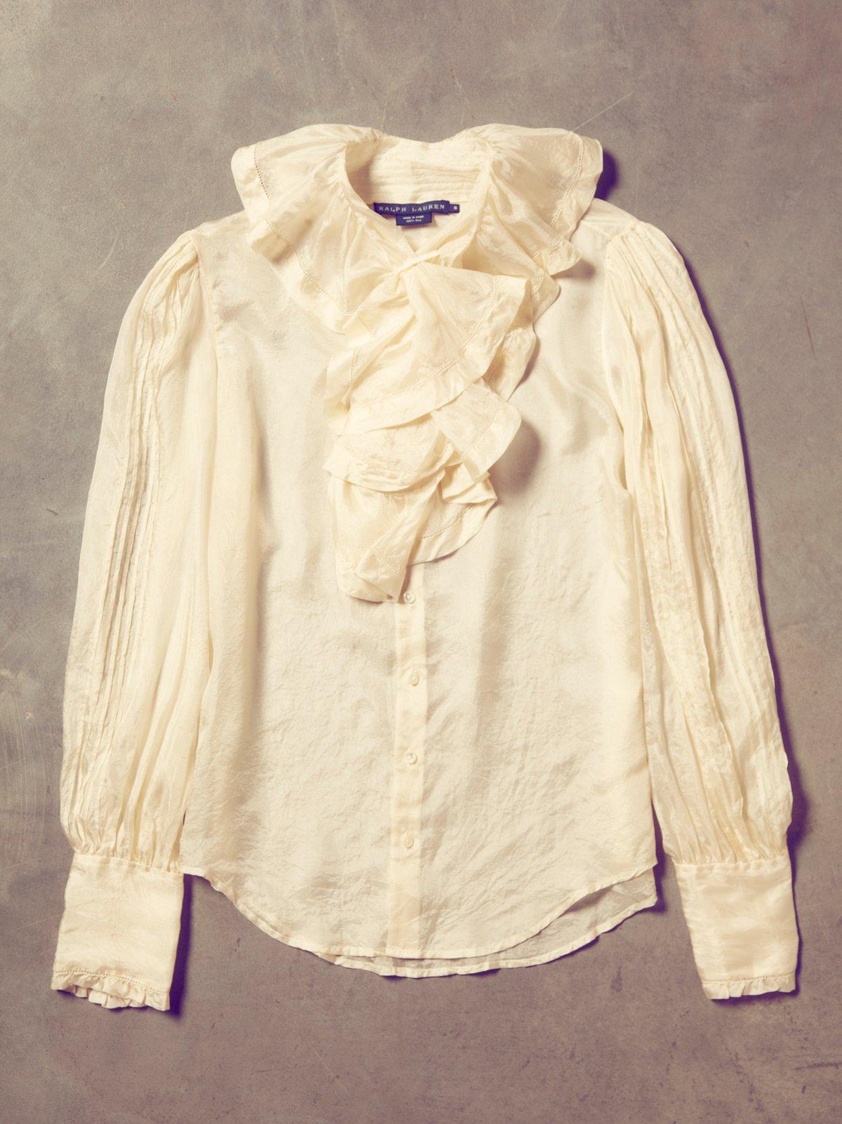 Vintage 1980s Silk Shirt