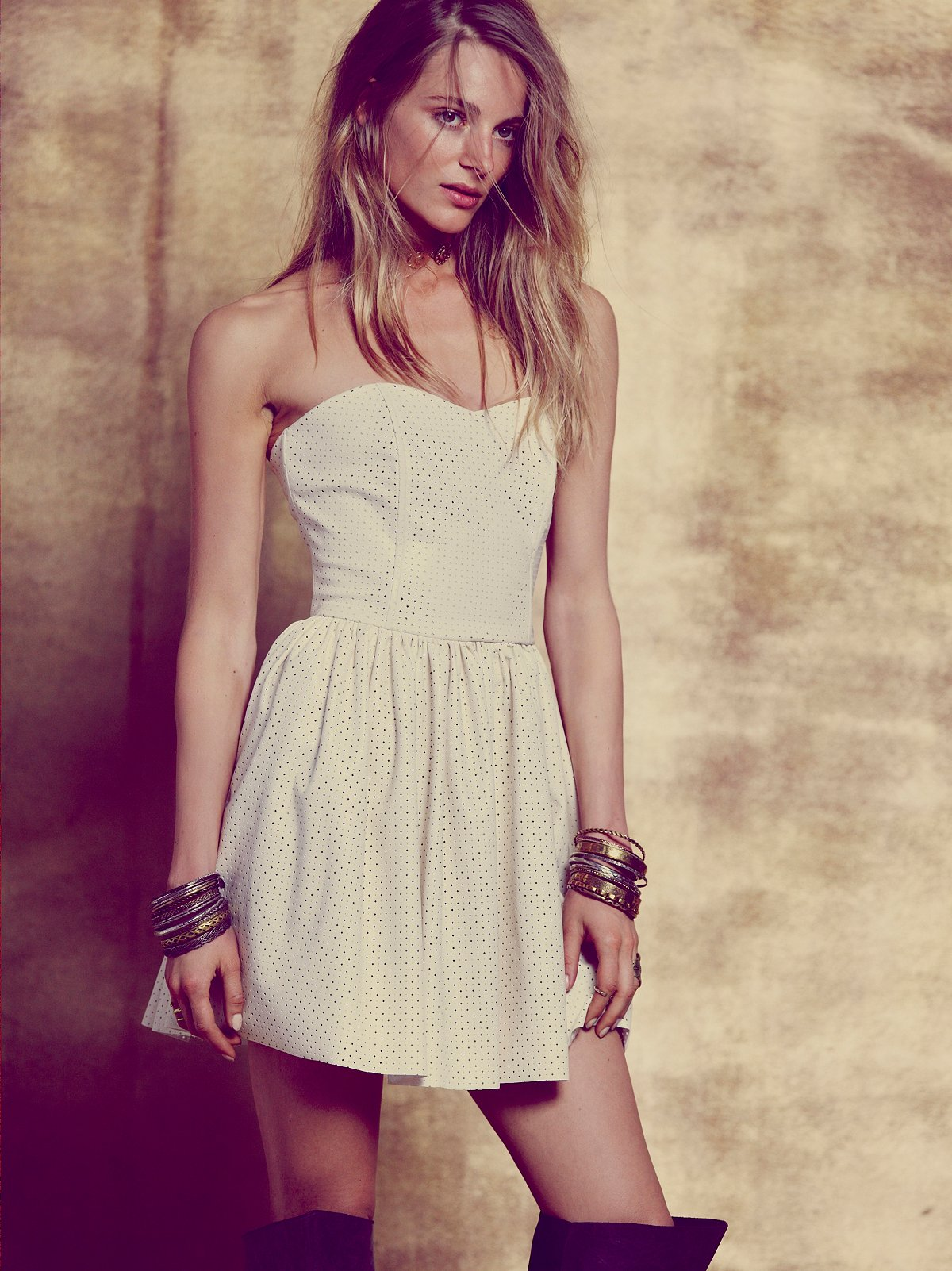 Cross My Heart Perforated Dress