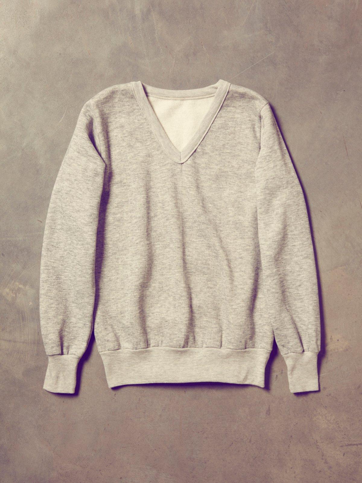 Vintage V-Neck Sweatshirt