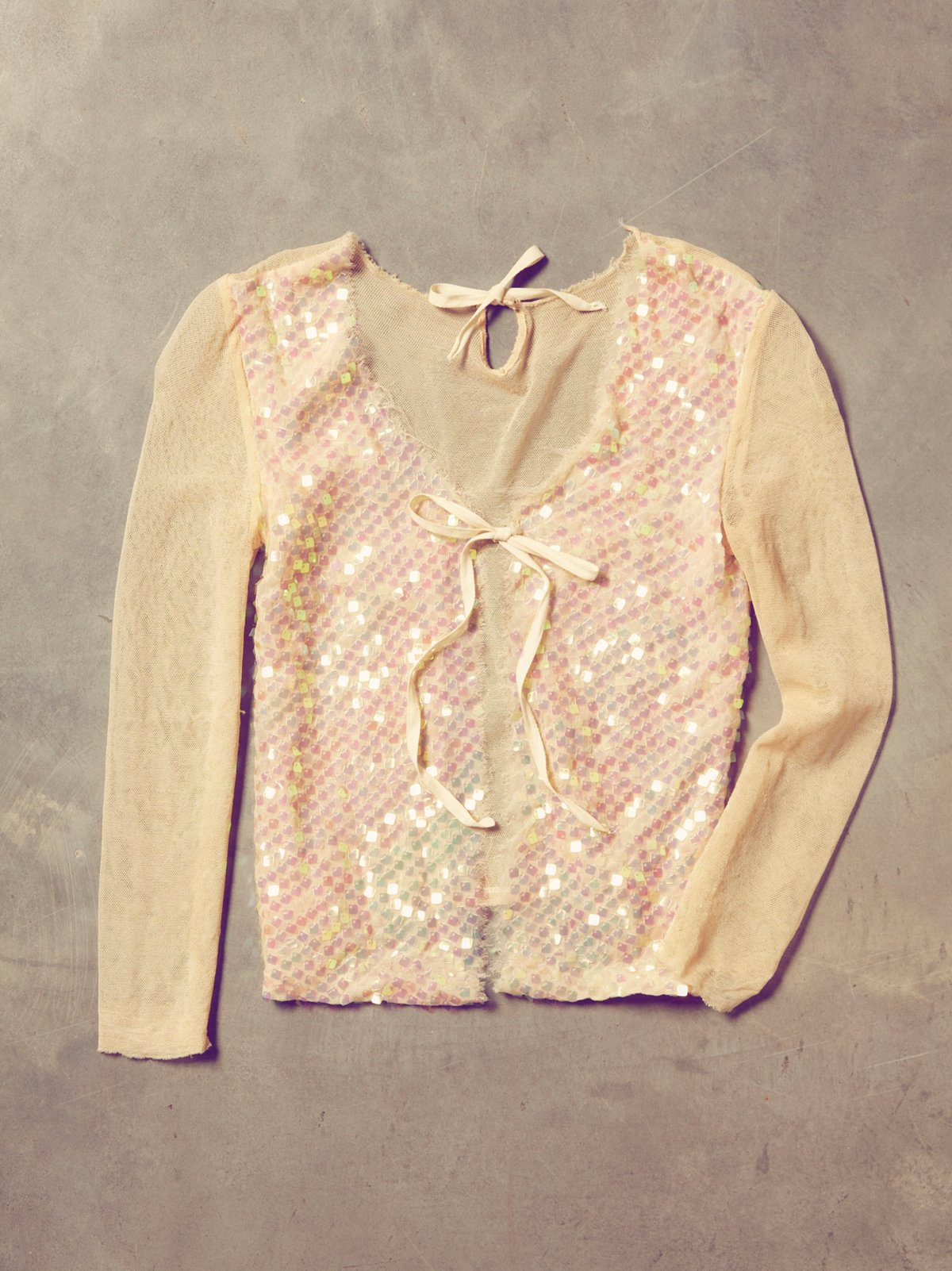 Vintage Sequin Dancer Blouse
