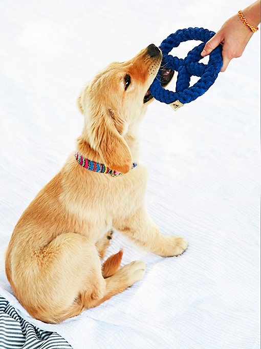 Product Image: Peace Sign Rope Dog Toy