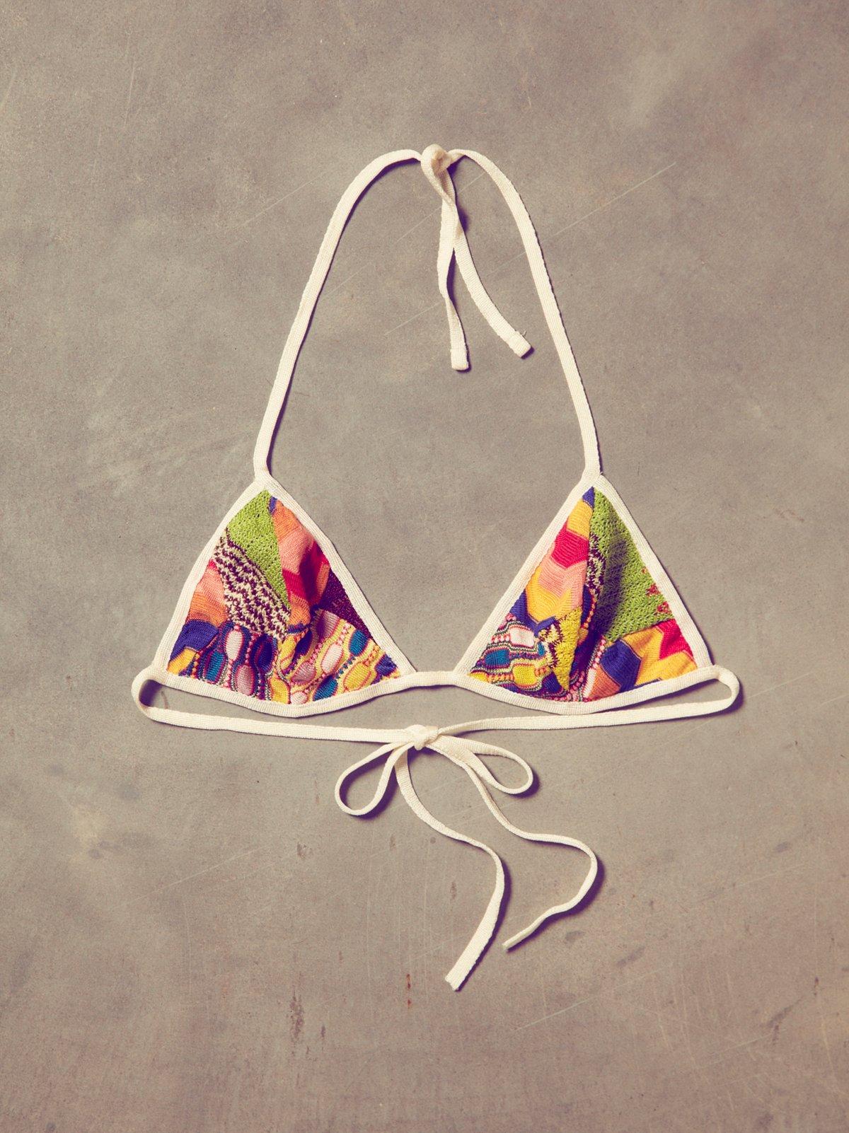 Vintage Missoni Triangle Bra