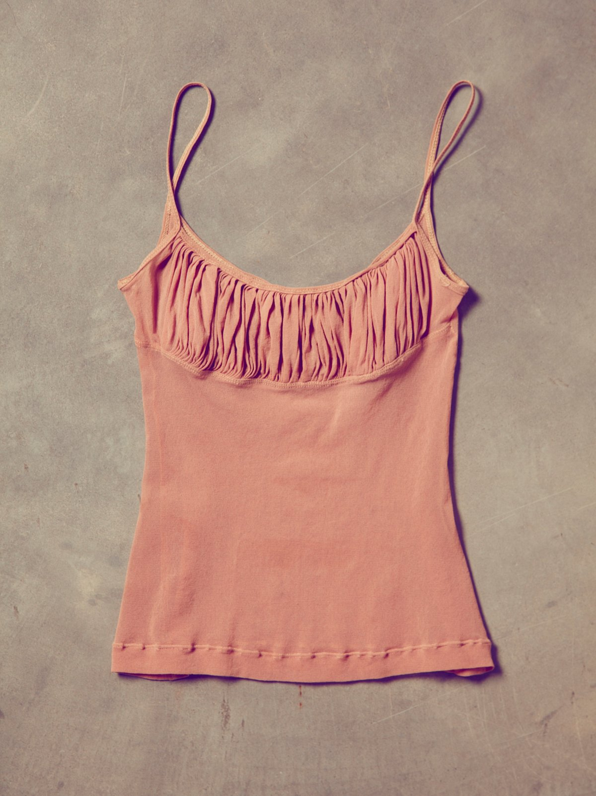 Vintage Pink Mesh Dance Tank