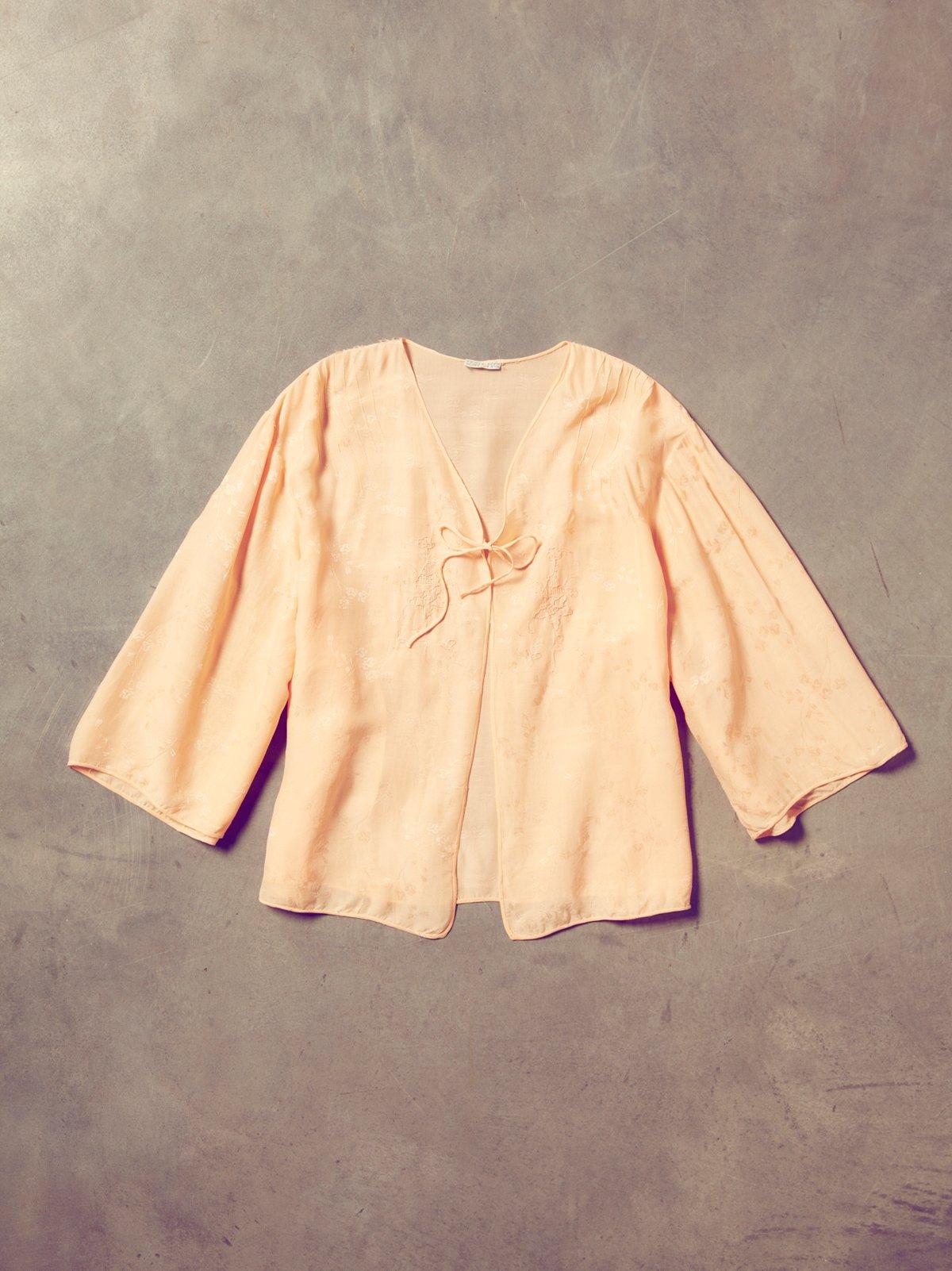 Vintage 50s Silky Kimono Top