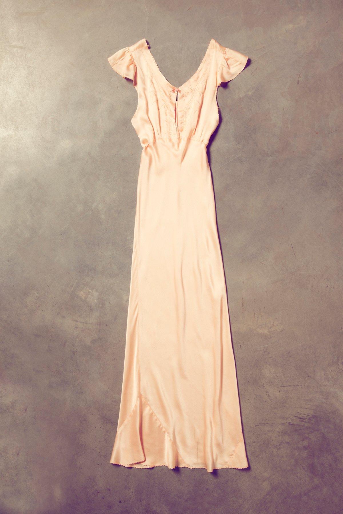 Vintage Capped Sleeve Lace Slip