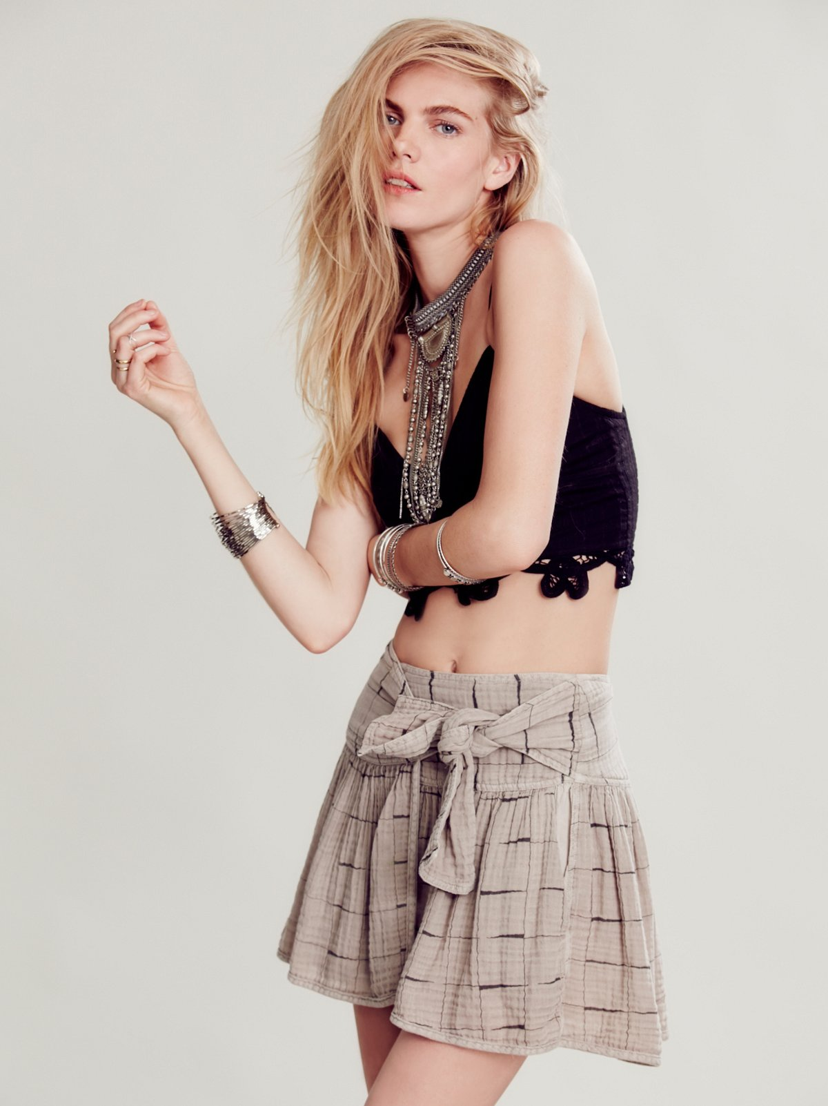 Bit Wrap Mini Skirt