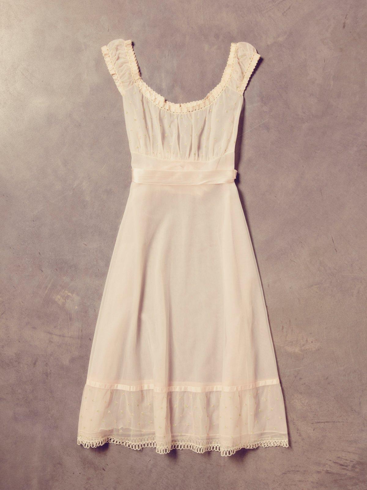 Vintage 60s Floral Dance Dress
