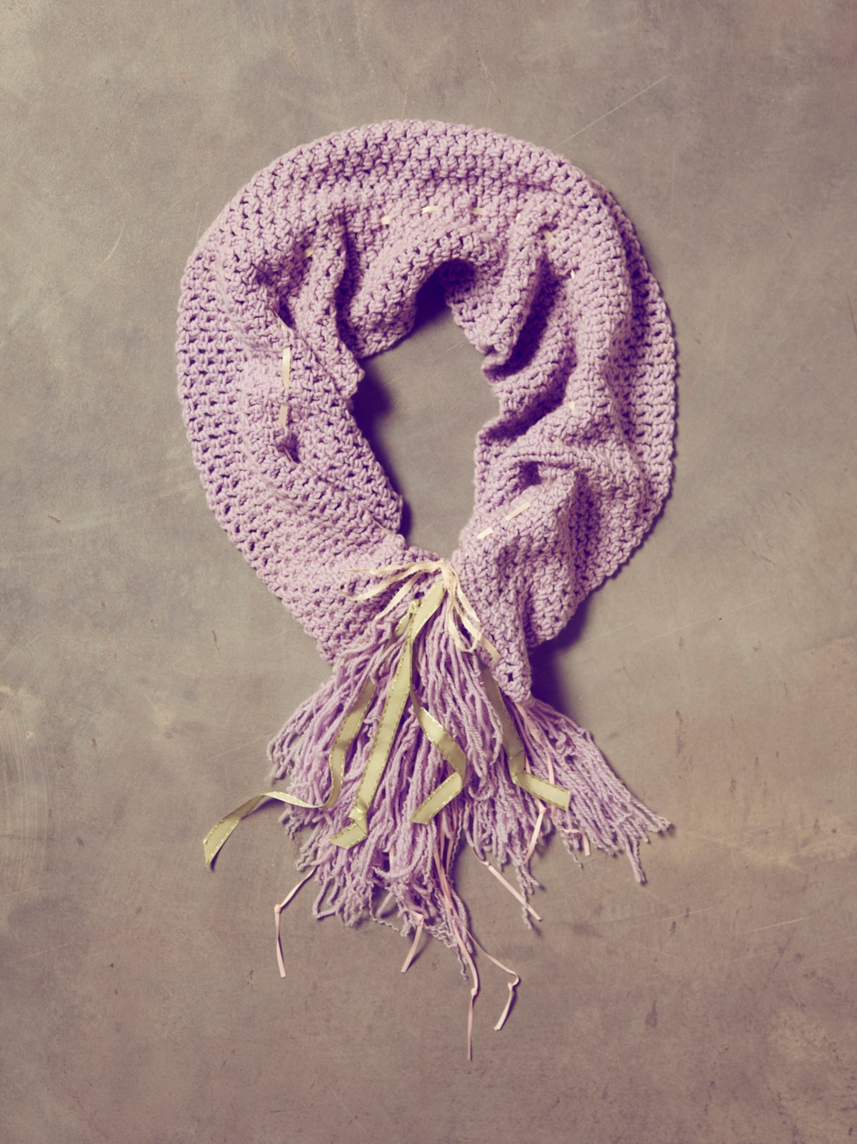 Vintage Hand Knit Dance Scarf