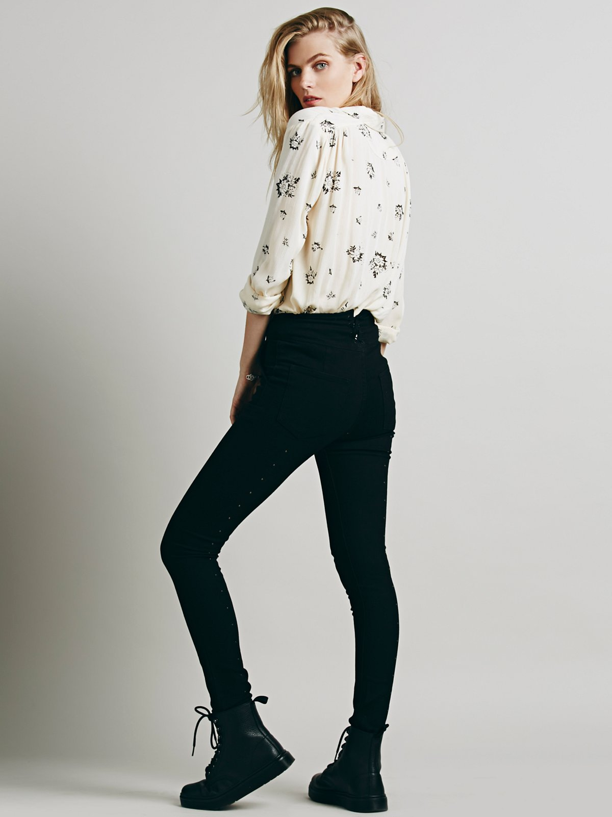 Lydia Lace Up Skinny