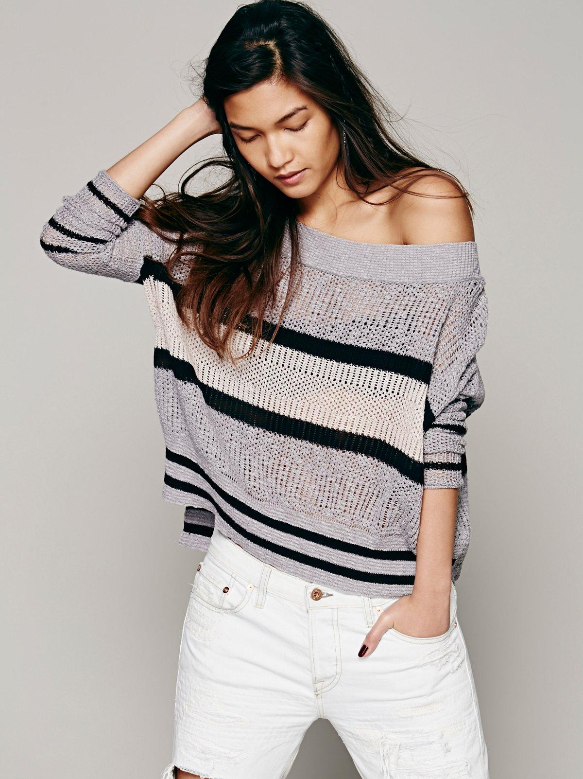 Boxy Stripe Pullover