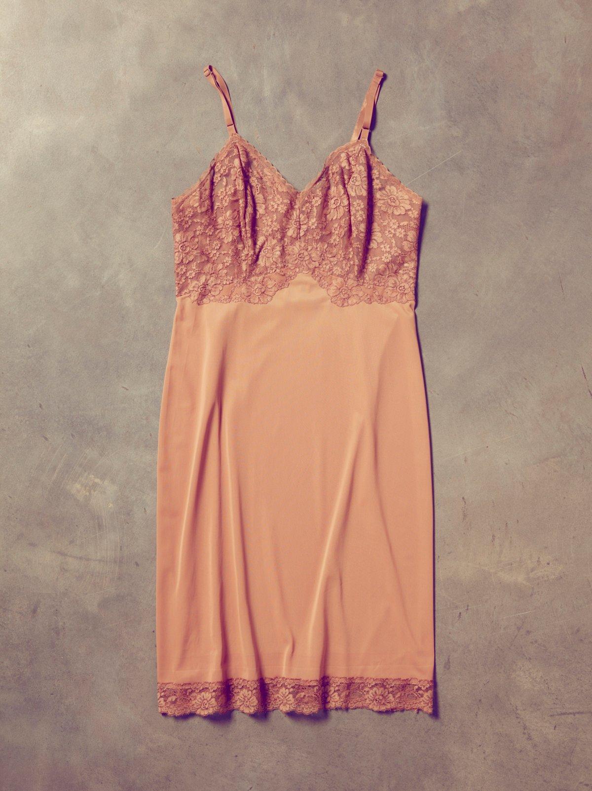 Vintage 1970s Eyelet Slip Dress