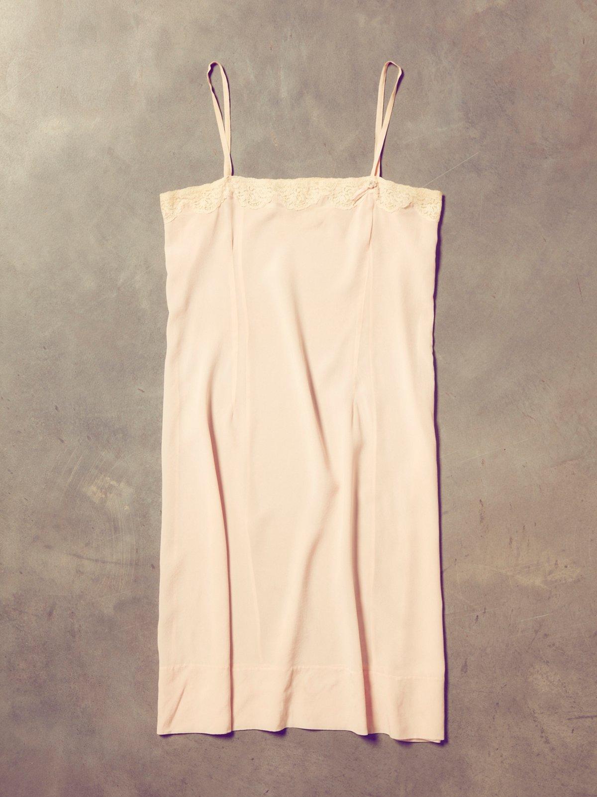 Vintage 1940s Pink Slip Dress