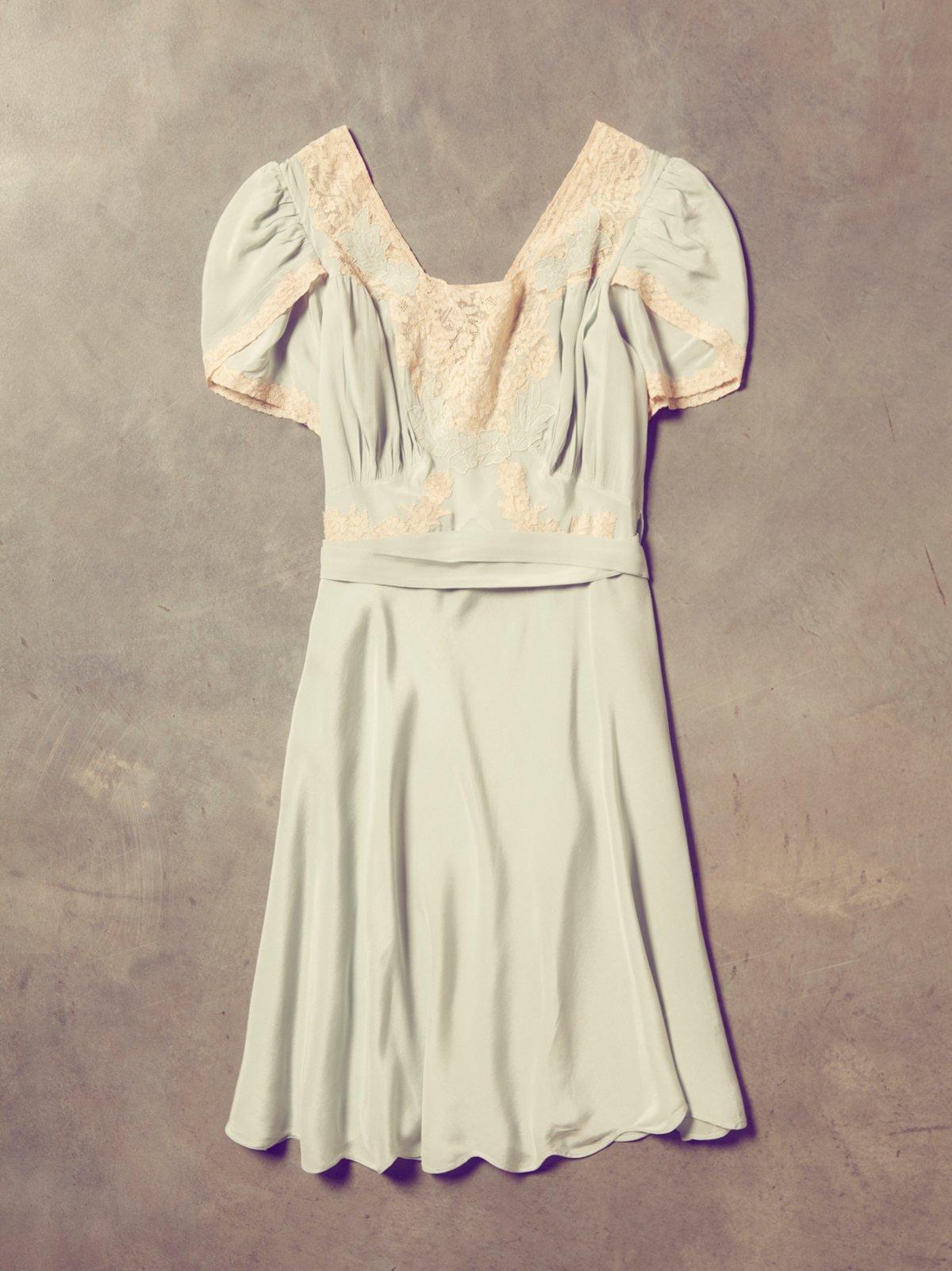 Vintage 1930s Silk Wrap Dress