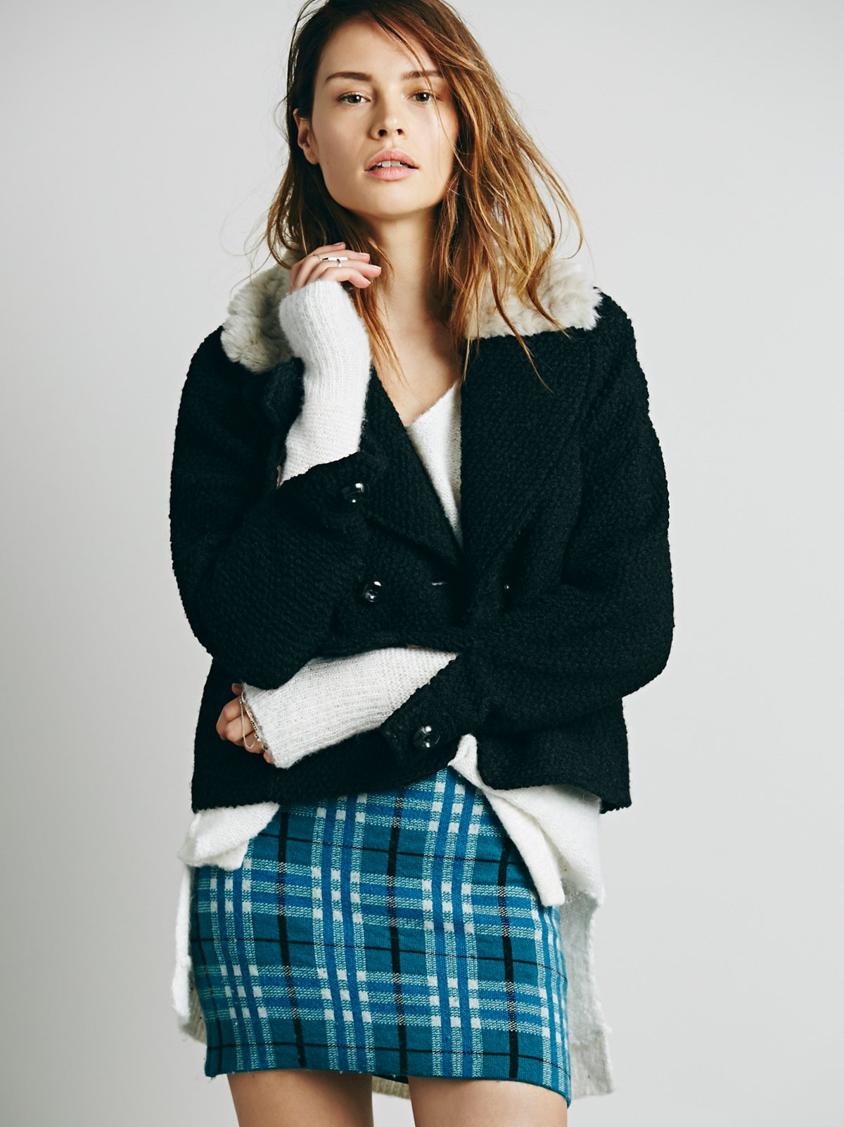Apre Plaid Sweater Skirt