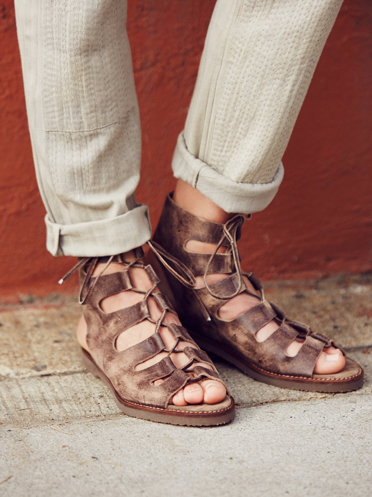 Luka Lace Up Gladiator Sandals