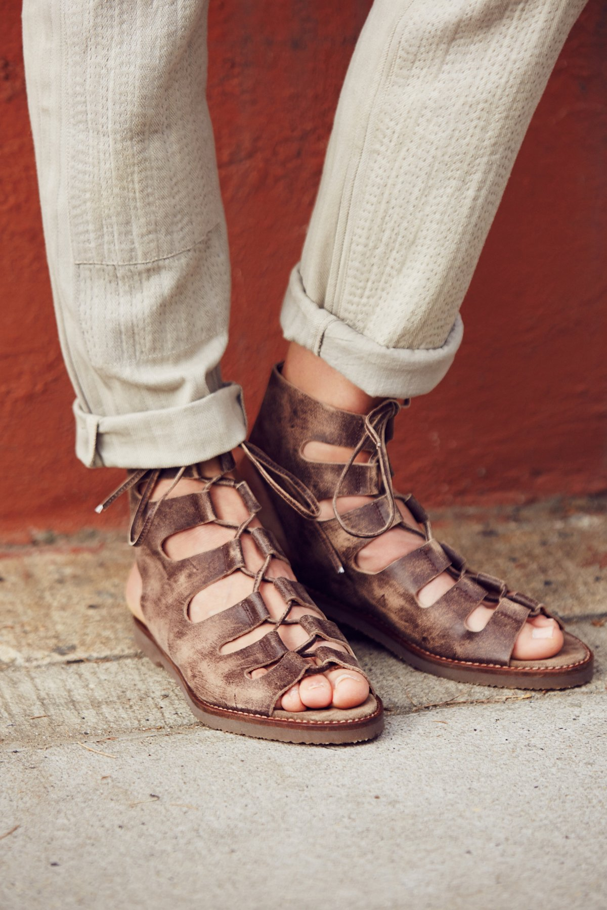 Luka系带罗马凉鞋