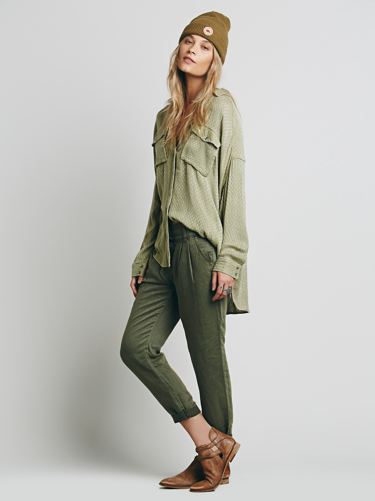 Relaxed Washed Trouser