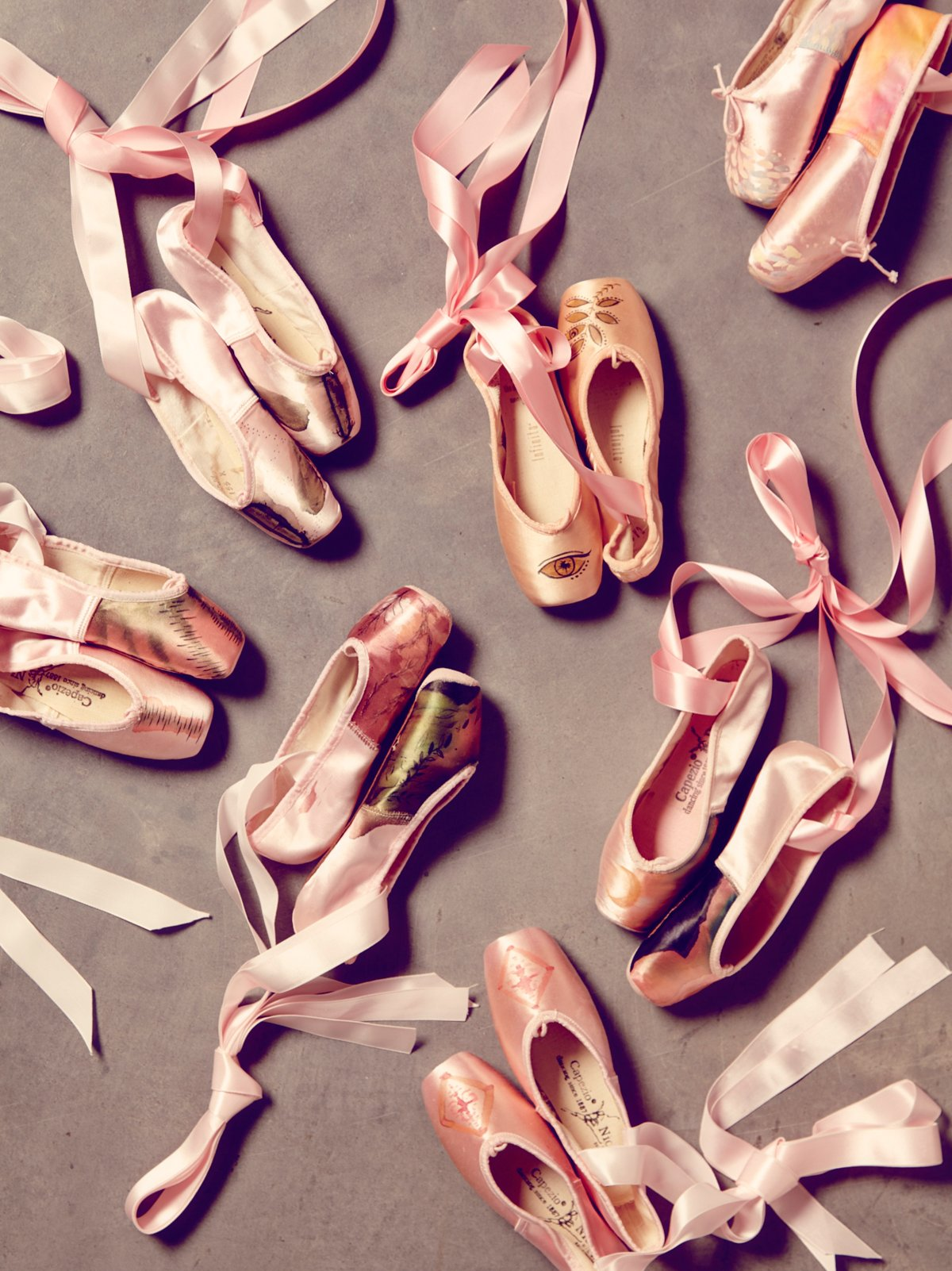 Vintage Painted Ballet Slippers