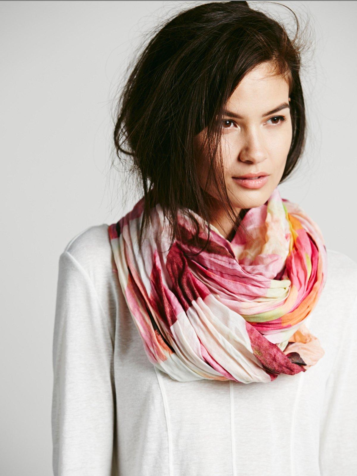 Modal Printed Silk Scarf