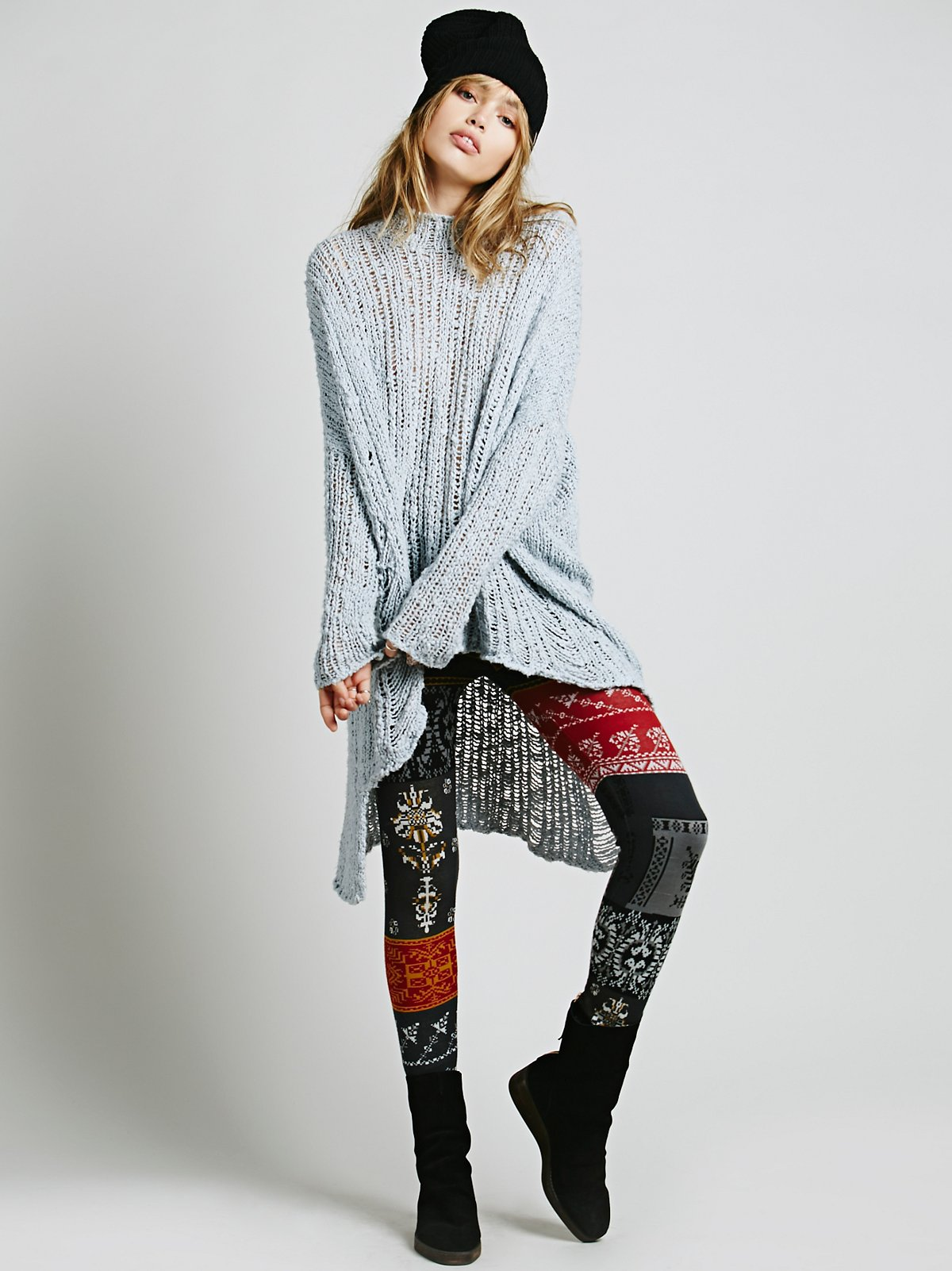Patchwork Sweater Legging