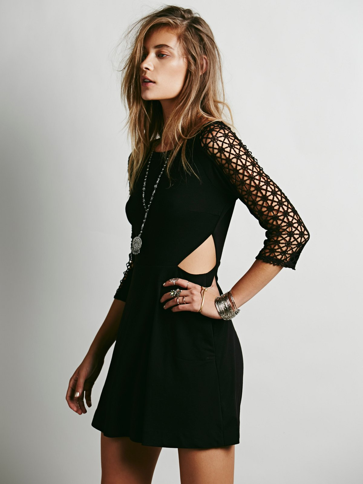 Life in the Fast Lane Cutout Dress