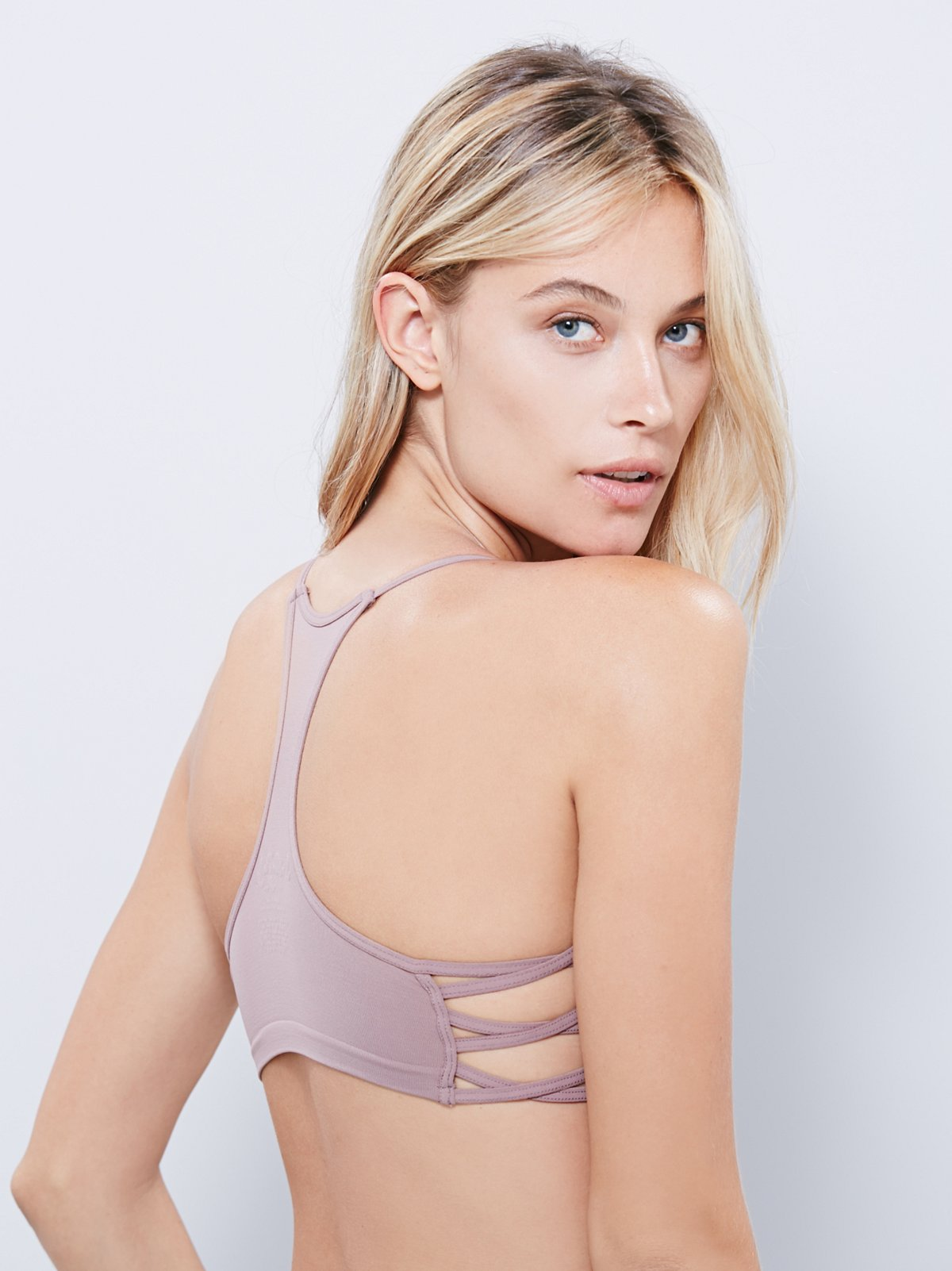 Side Cross Crop Bra