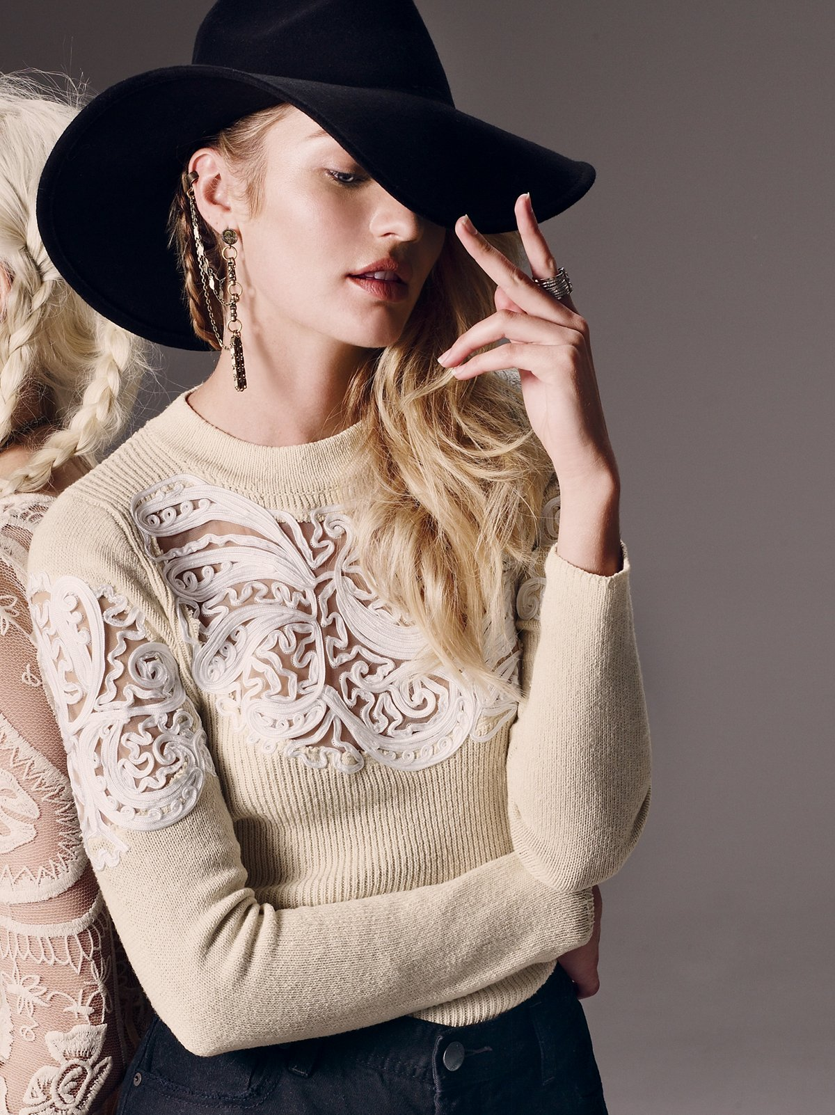 Scroll Work Pullover