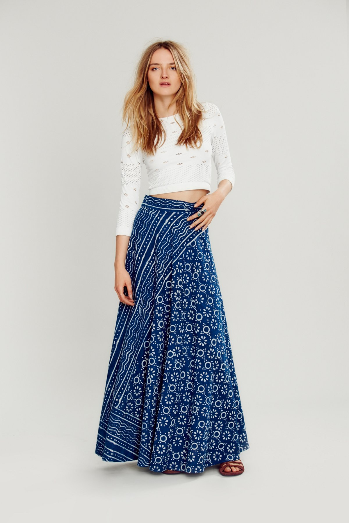 Dabu Blockprint Wrap Maxi