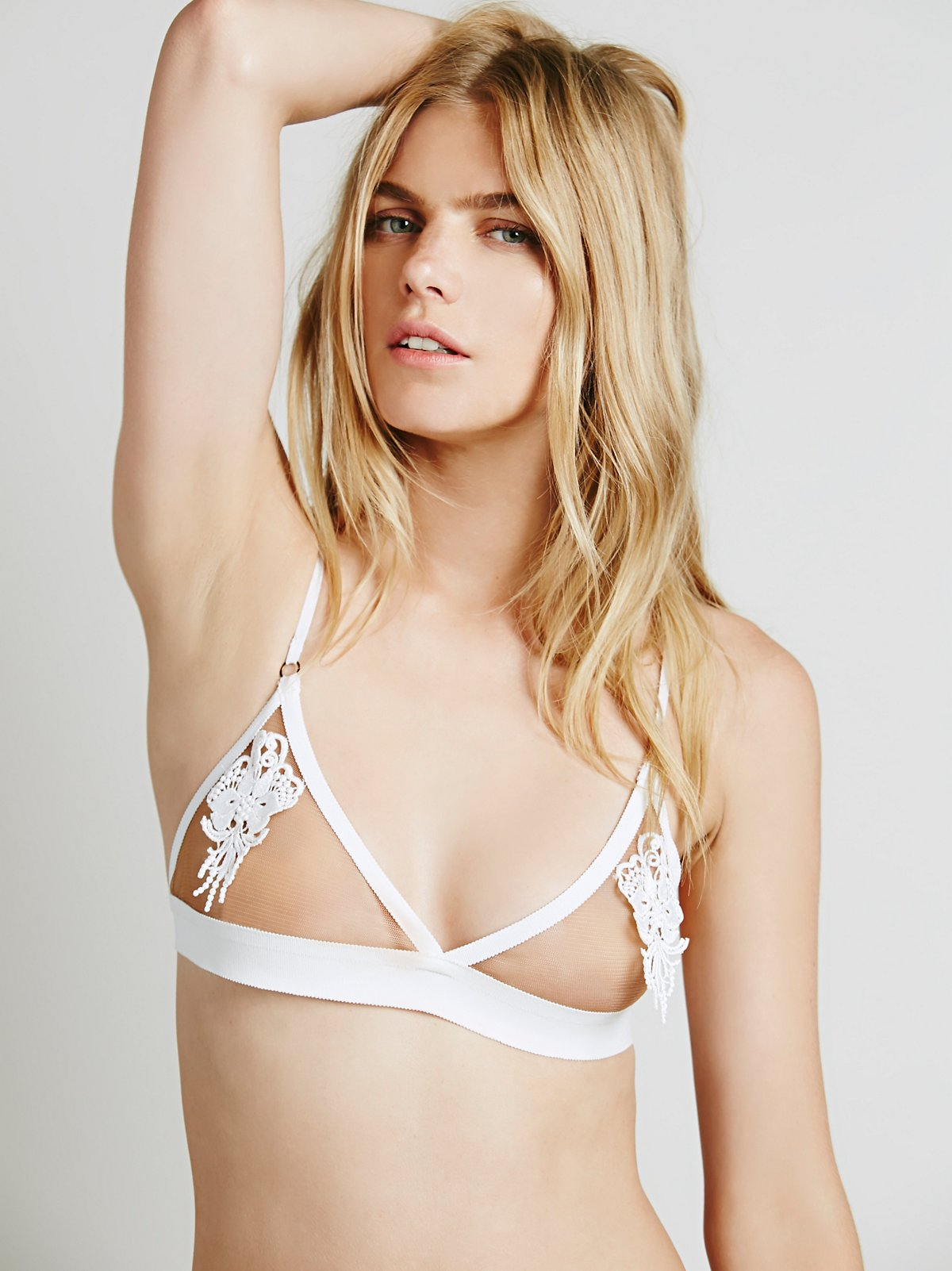Applique Triangle Bra