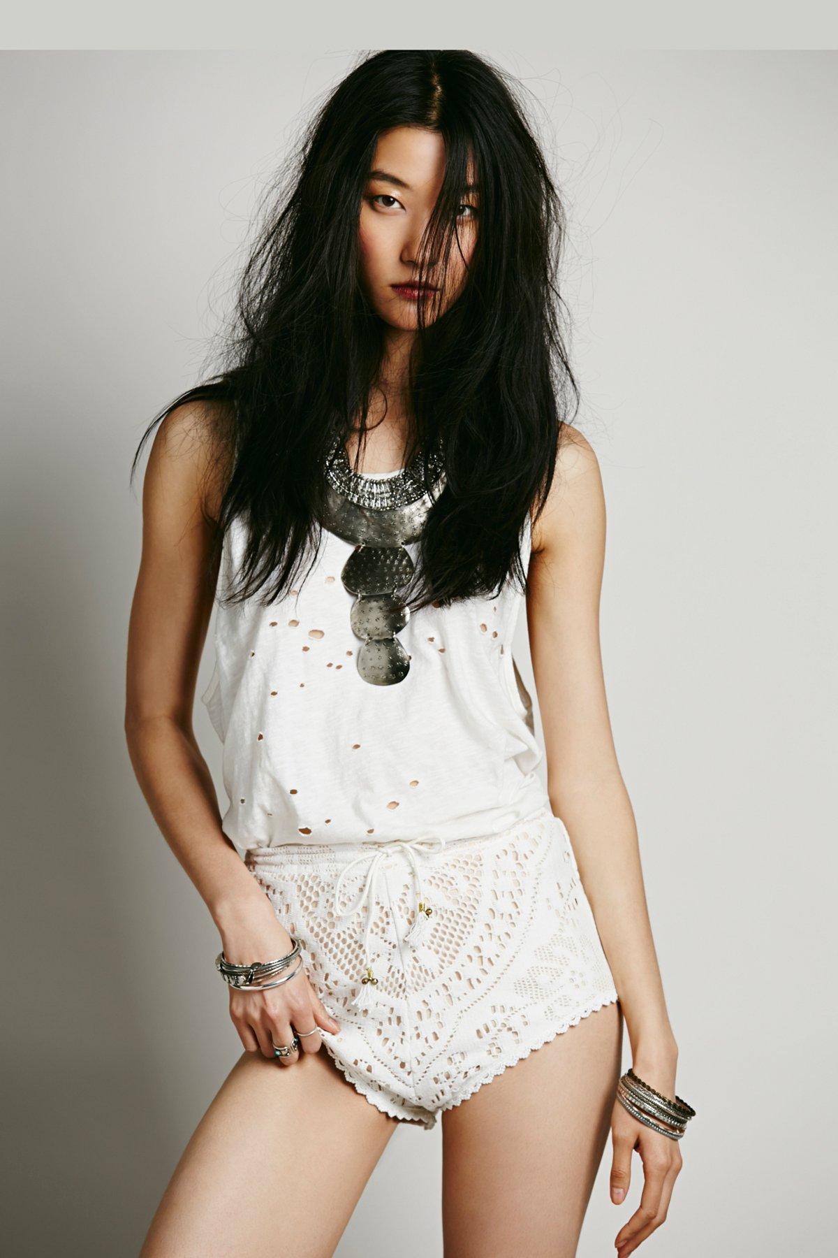 White Dove Lace Shorts