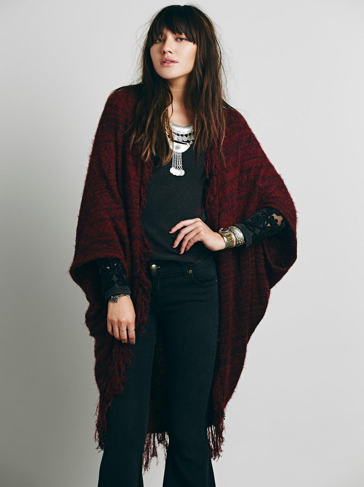 Eyelash Sweater Kimono