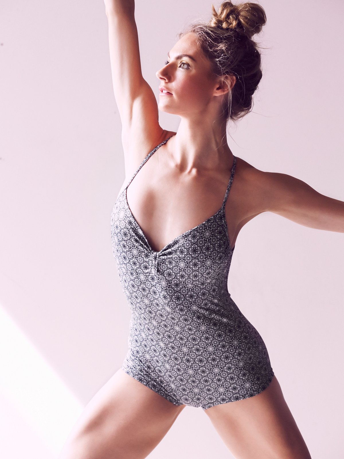 Printed Sweetheart Leotard