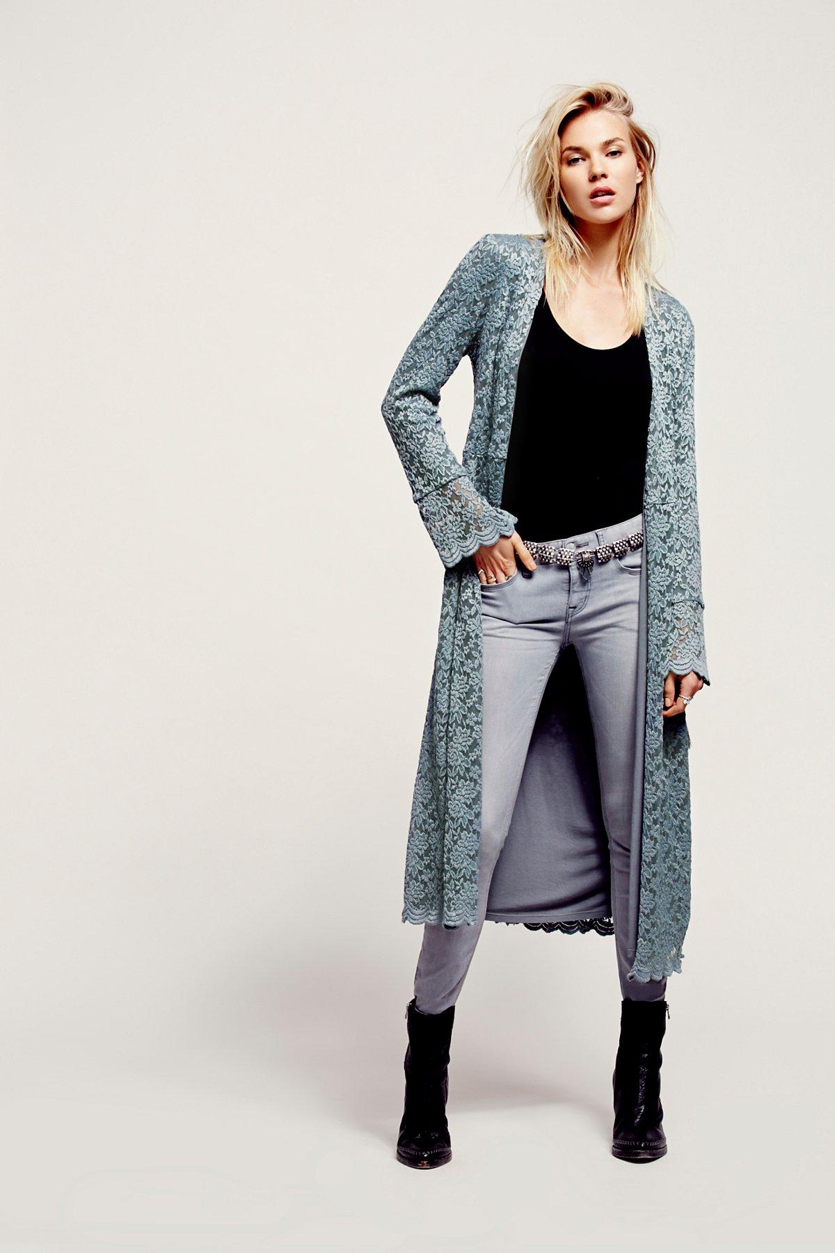 Lace Soft Long Jacket