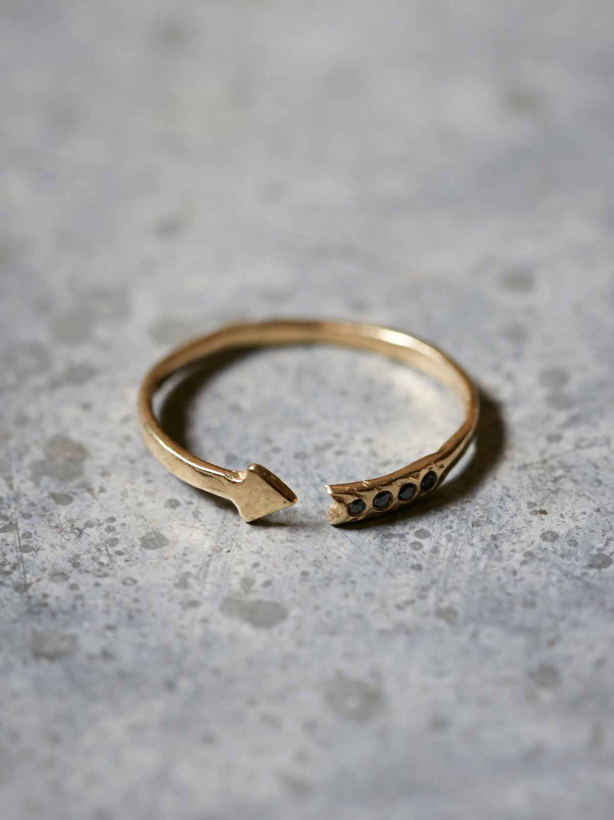 Diamond Arrow Band Ring
