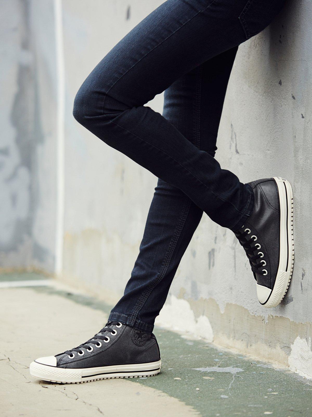 复古皮革徒步旅行帆布鞋
