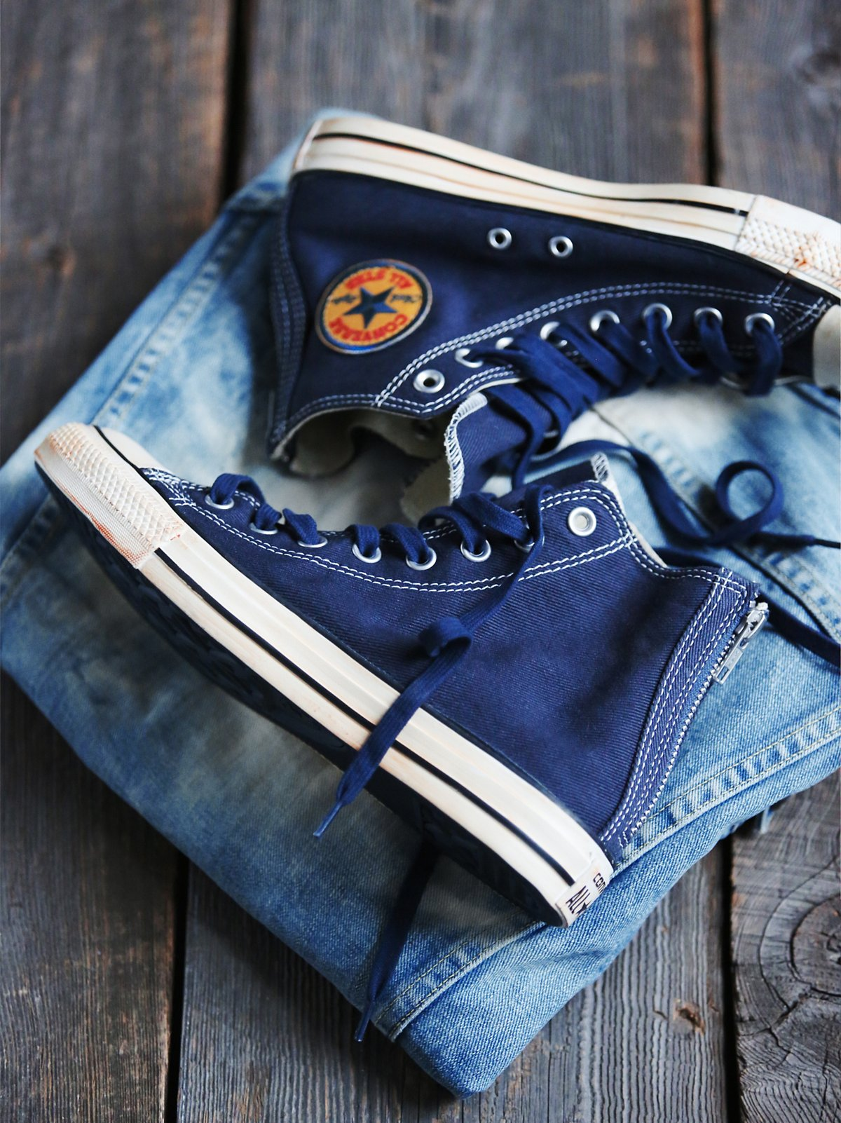 水洗复古斜纹布帆布鞋