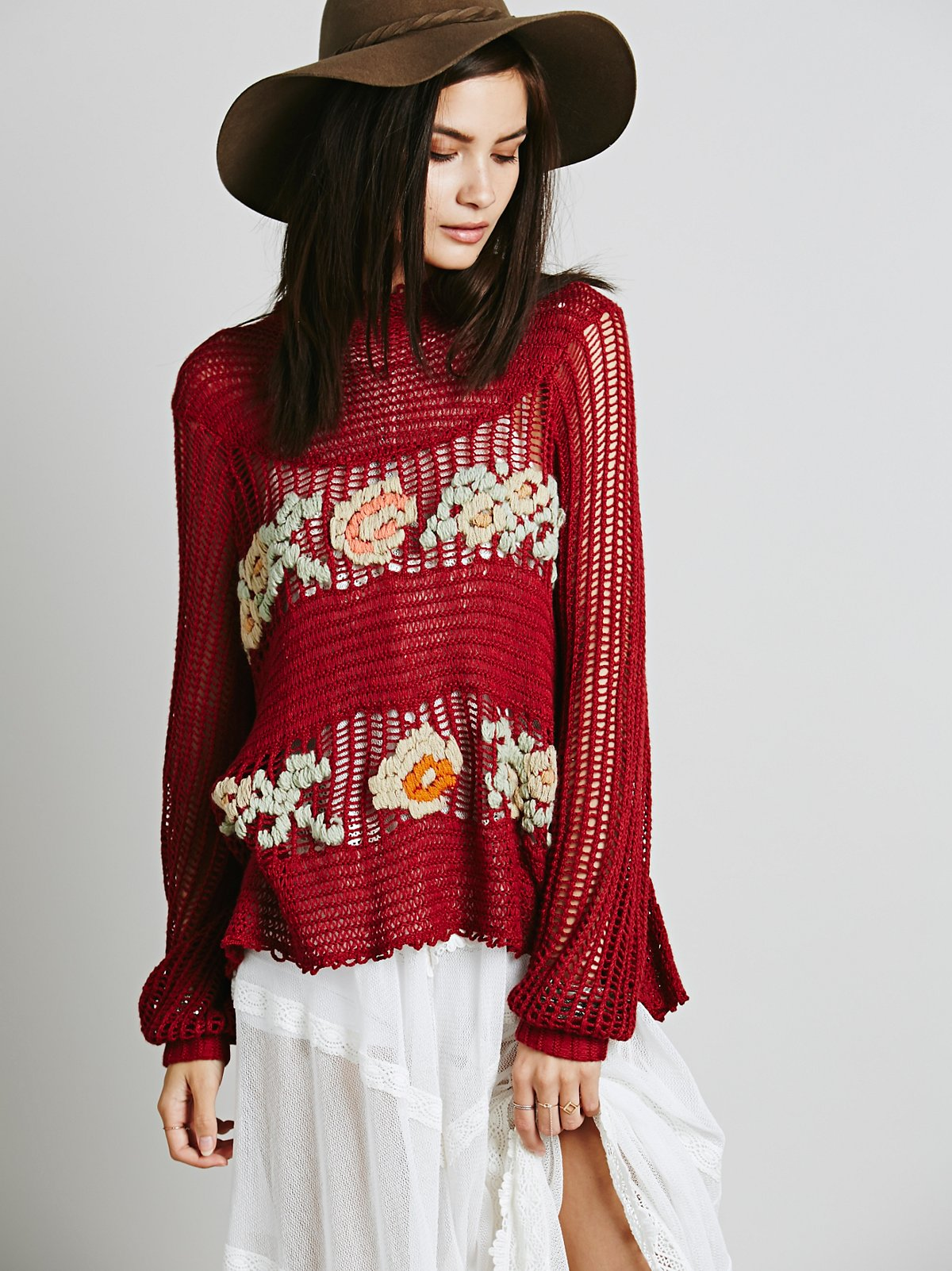 FP New Romantics Everything is Rosey Pullover