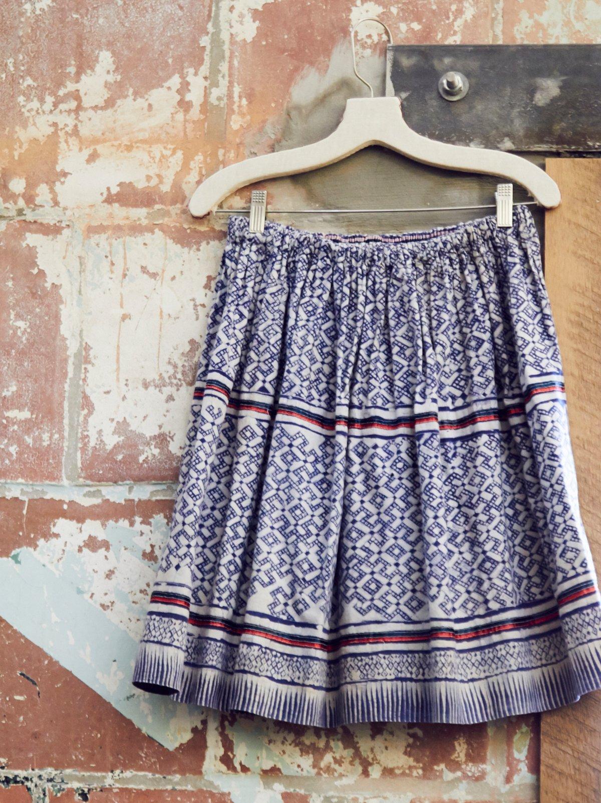 Vintage 1970s Batik Skirt
