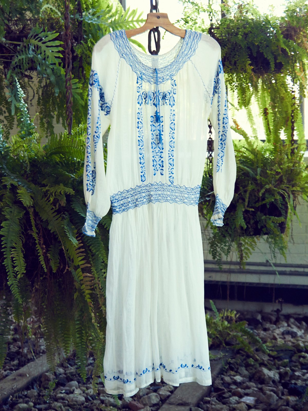 Vintage 1940s Peasant Dress