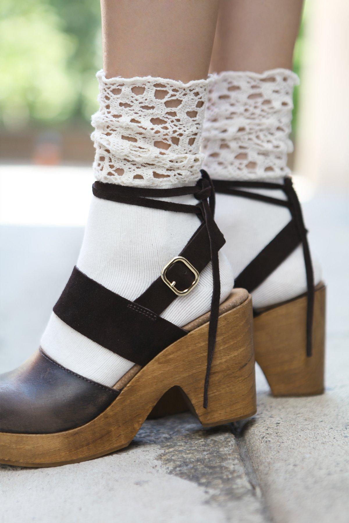 Giselle钩编短筒袜