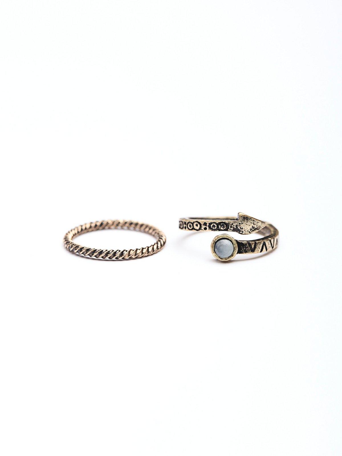 Stone Midi Ring Set