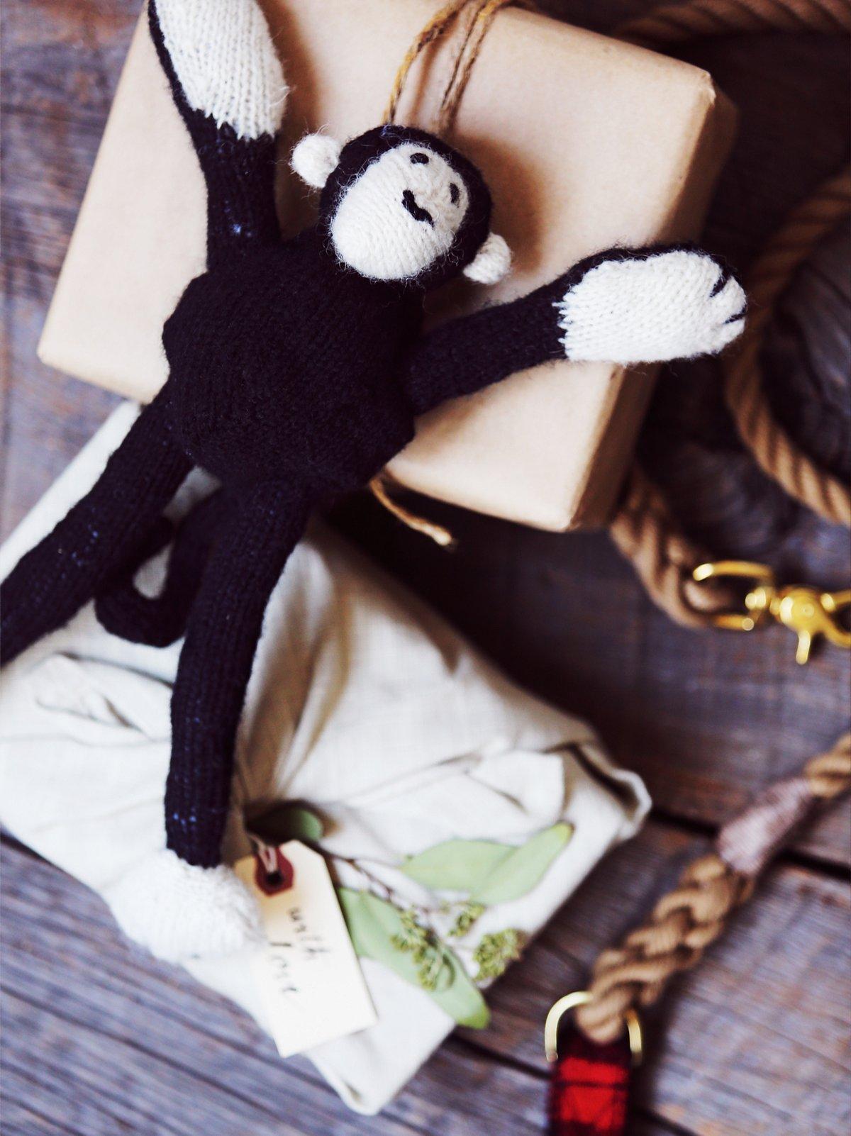 Hand Knit Monkey Toy